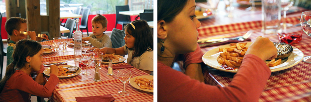 Parfois, les enfants dînent entre eux et partent ensuite jouer !