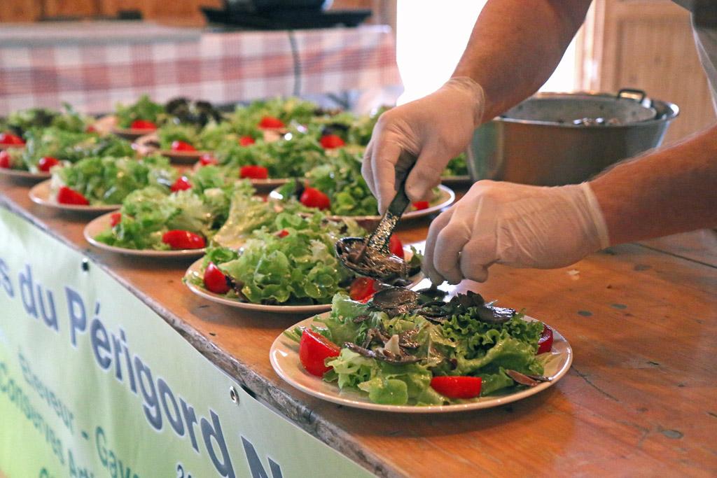 Hummm les assiettes de salade gésiers