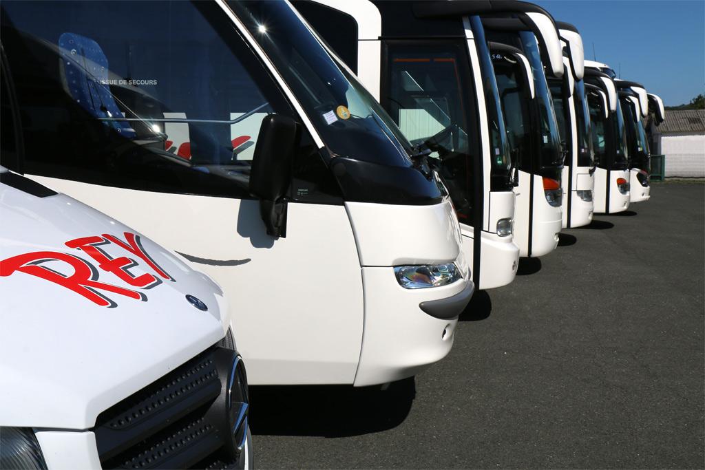Des bus blancs et rouges !