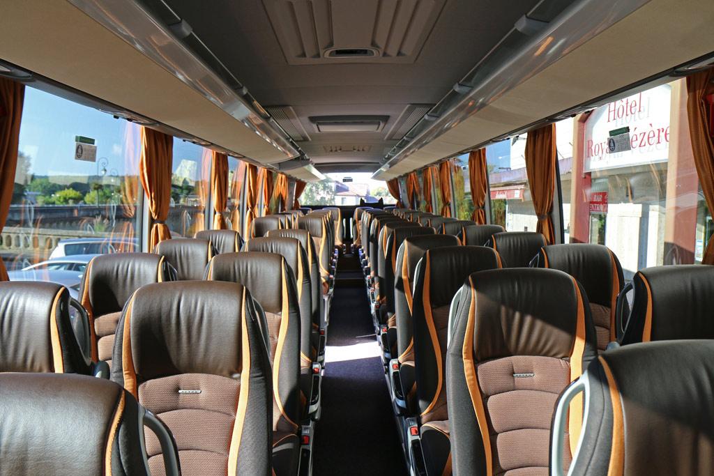 Des bus confortables et modernes