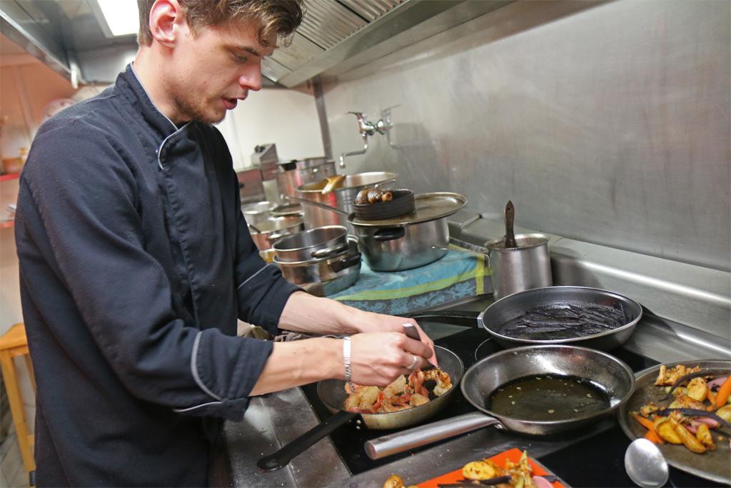 Une cuisine dynamique et fraîche, comme l'équipe !
