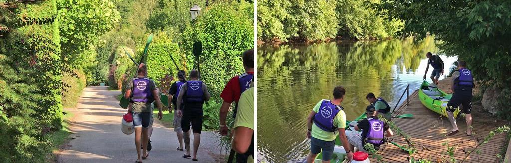 Le Camping Le Paradis loue des canoës et des kayaks, avec transport retour !