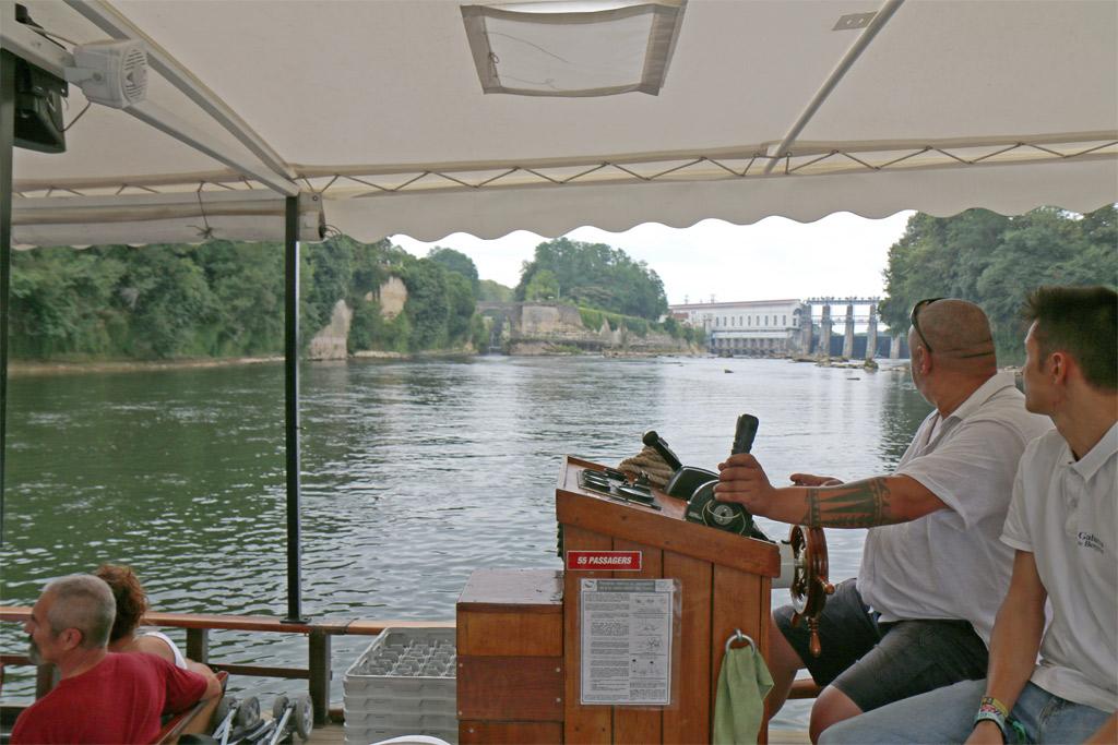 Les Gabarres de Bergerac Barrage et ascenseur à poissons