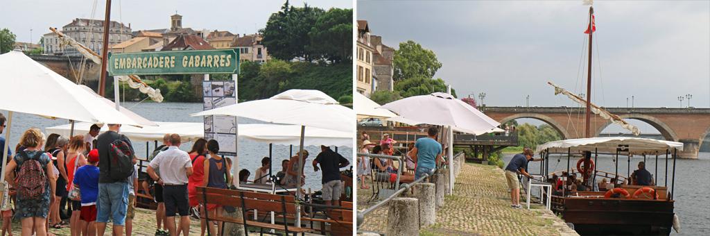 Gabarres de Bergerac embarcadère