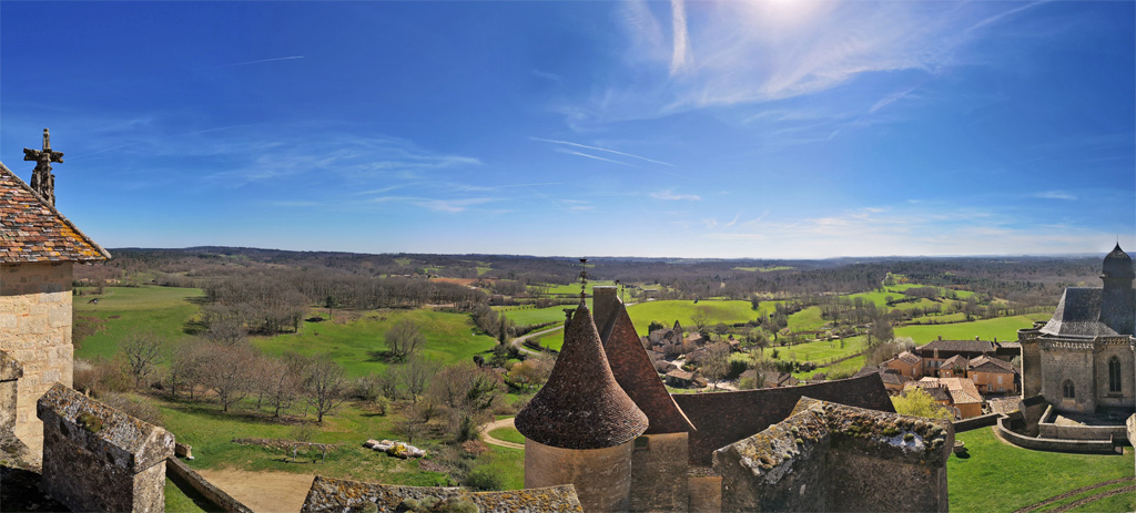 terrasse panoramique château de biron