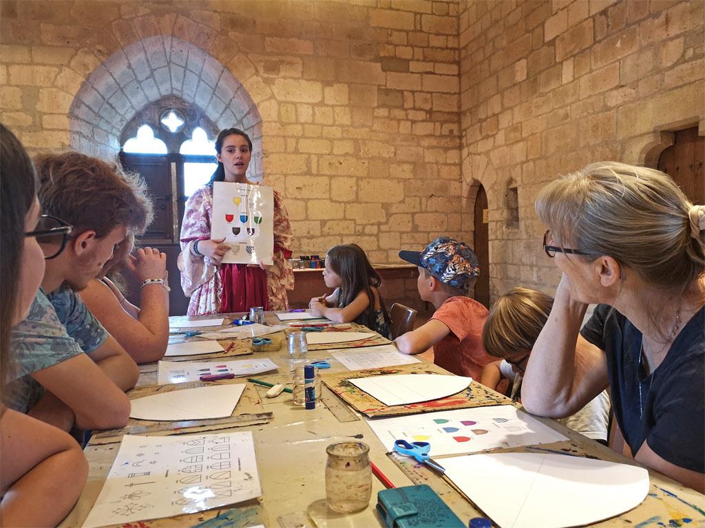 atelier medieval chateau de bourdeilles