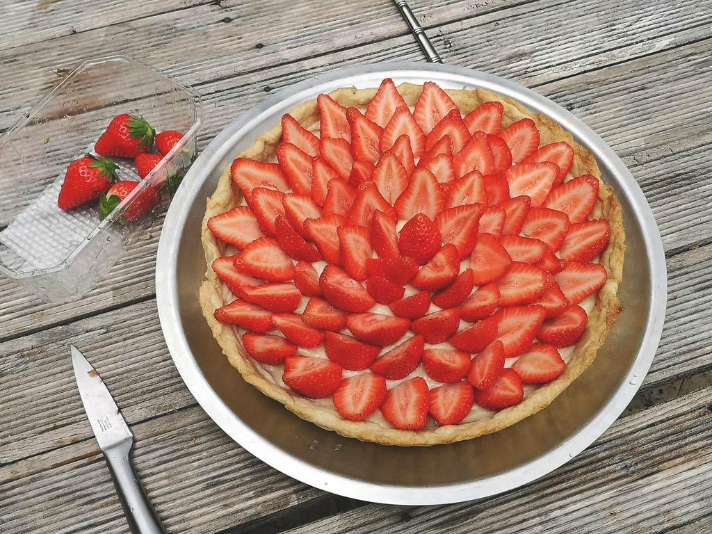recette de tarte à la fraise