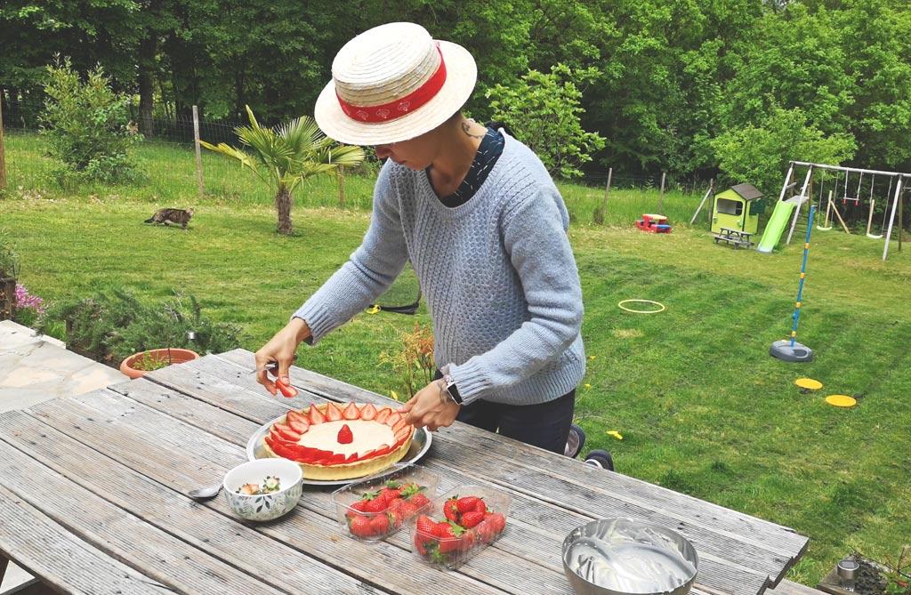 Tarte à la fraise du Périgord