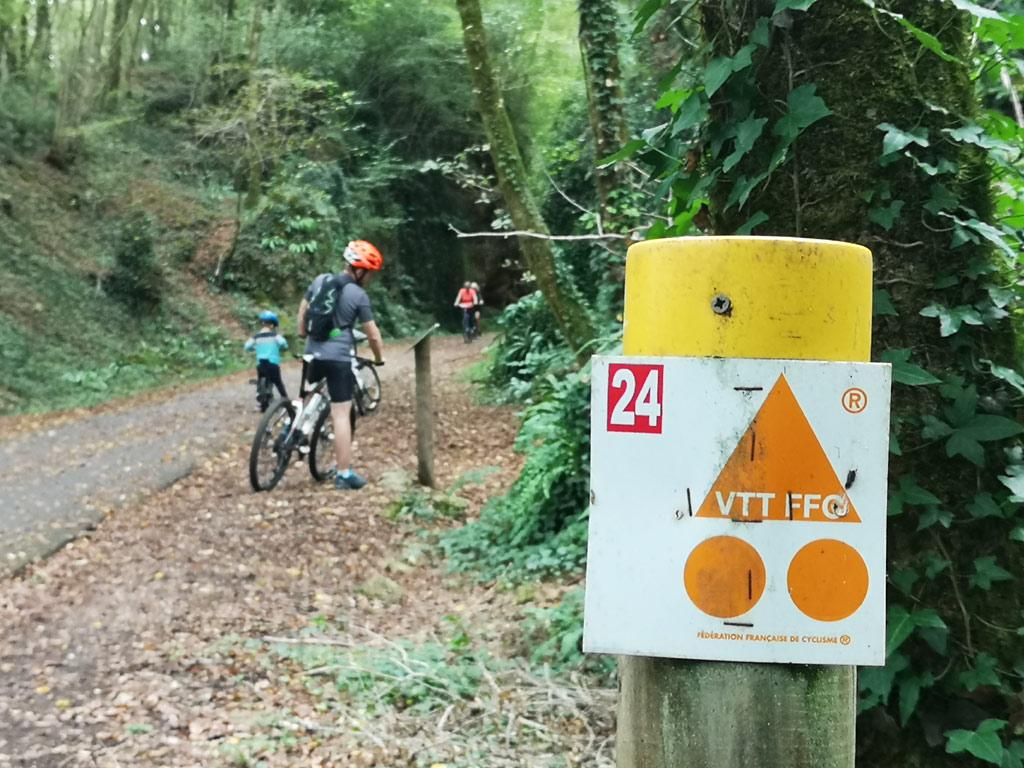 panneau itinéraire vélo dordogne