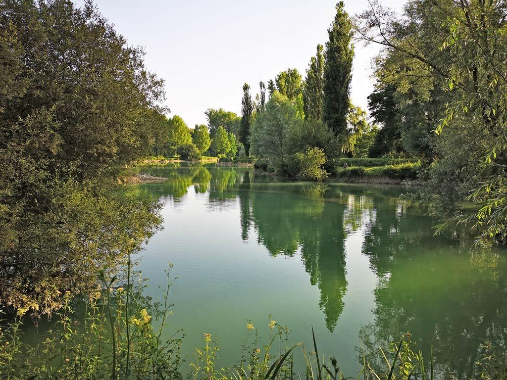 pond of fishing camping of the big prade
