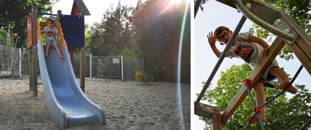 children's play area camping de la grande prade