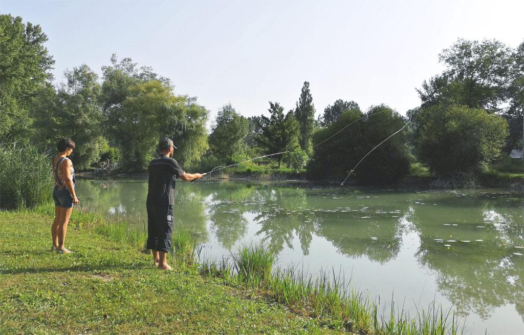 fly fishing camipng la grande prade