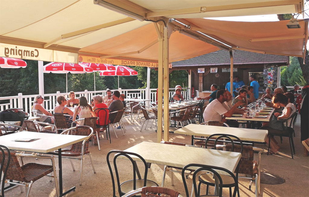 camping terrace of the great prade