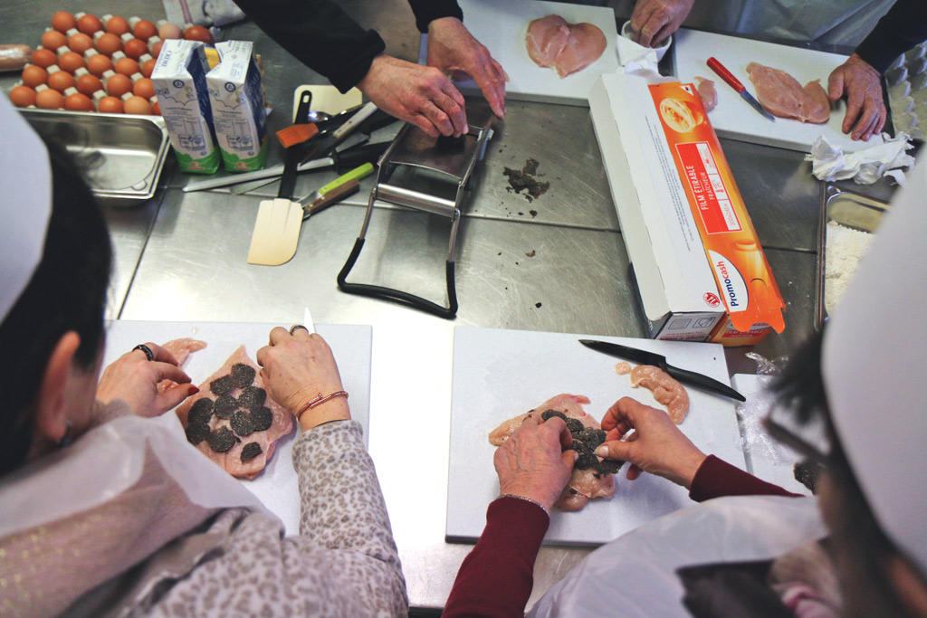Cours de cuisine fete de la truffe