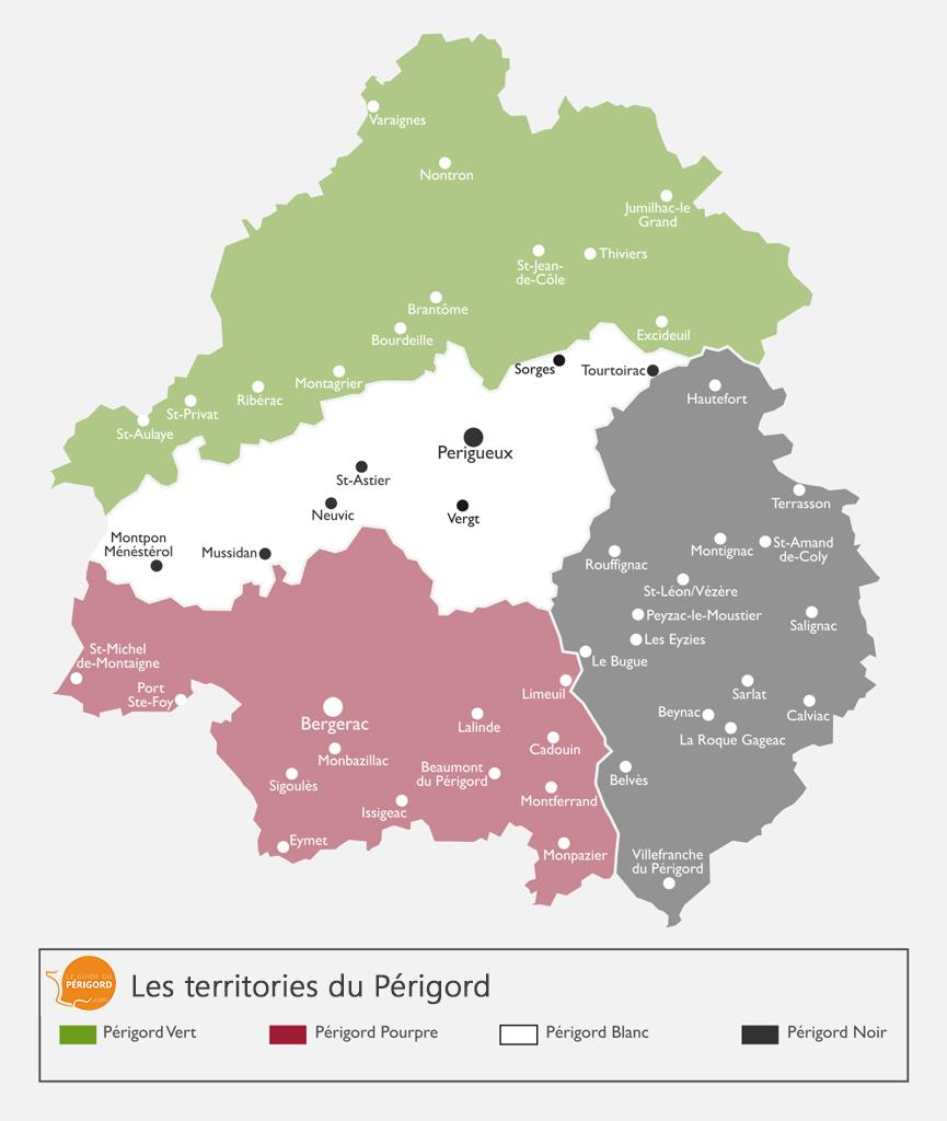 Carte du Périgord Blanc