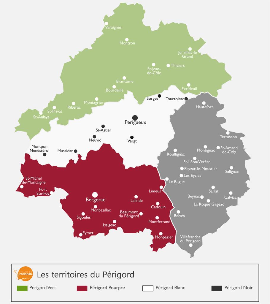 Carte du Périgord Pourpre