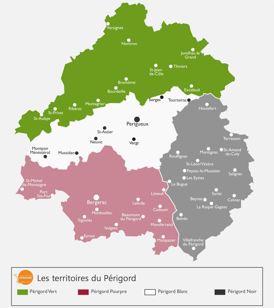 Carte du Périgord Vert