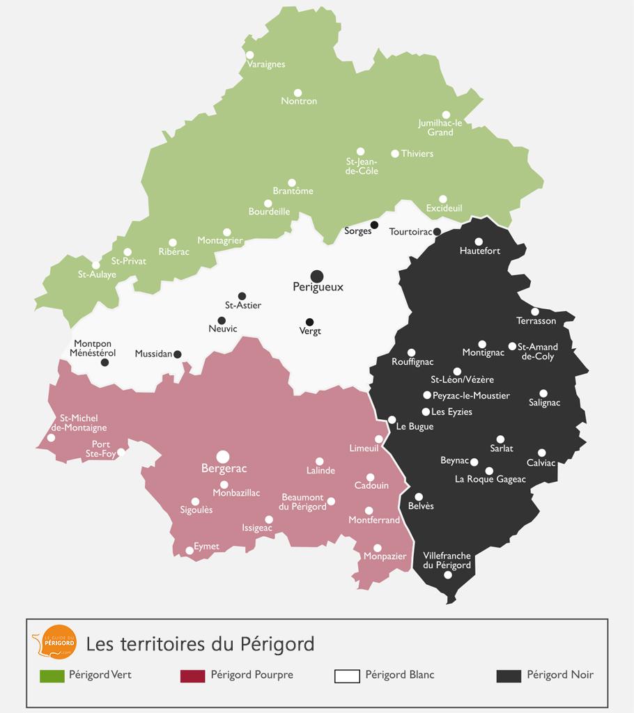 Carte du Périgord Noir